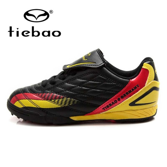TIEBAO Professional black Men Boy Kids Soccer Cleats Turf Football Soccer Shoes TF Sneakers Trainers New Design football boots