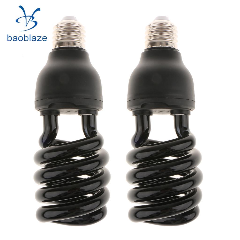 12V Ultra Violet Bulb Black Light CFL Insect-lured Lamp UV Money Detector E27