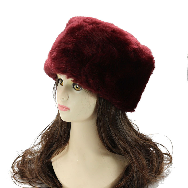 Aggressive Brand Winter Women Bomber Hat Fluffy Faux Fox Fur Black White Red Blue Russian Ushanka Hats Head Warmers For Ladies Earflap Cap To Produce An Effect Toward Clear Vision