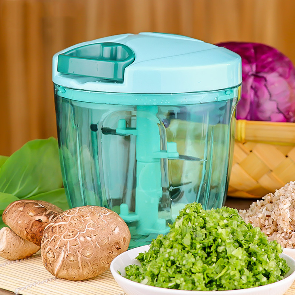 Manual Food Processor Chopper Blender Slicer Safe Free Durable Kitchen Household