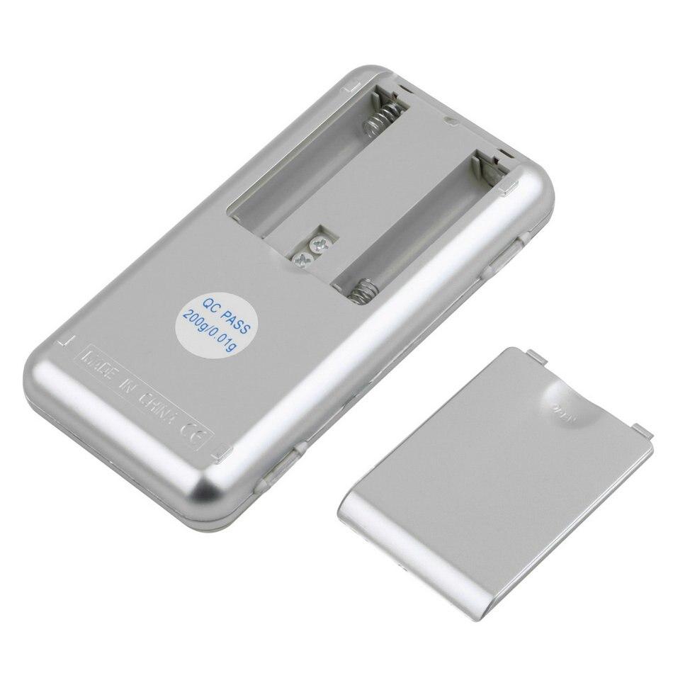 1 vnt 200 g / 0,01 g elektroninės mini skaitmeninės kišenės - Matavimo prietaisai - Nuotrauka 4