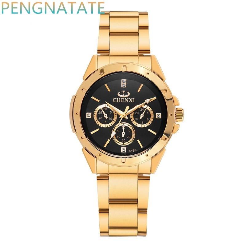 Reloj dorado Nuevo Reloj de oro para hombres Relojes de cuarzo de - Relojes para hombres - foto 2