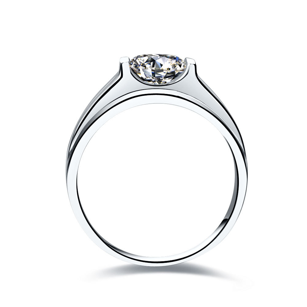 engagement ring with halo white round diamond gold gabriel rings setting channel
