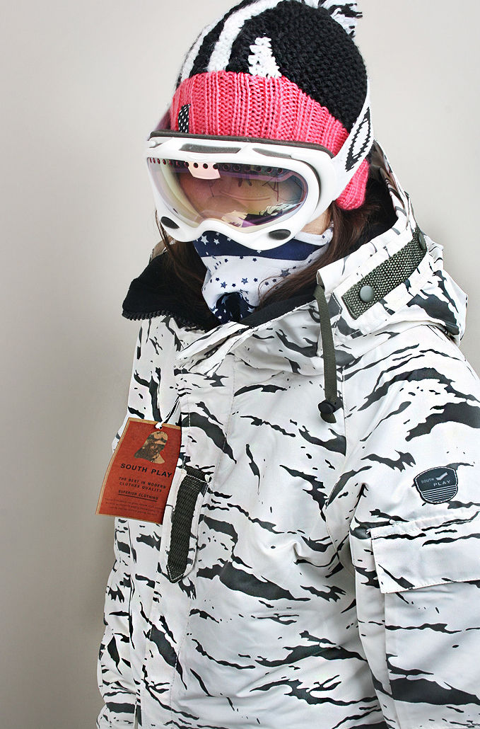 "New Premium ""Southplay"" Winter Waterproof 10,000mm Skiing Snowboard (White Sand Military Jacket OR Denim Pants)"