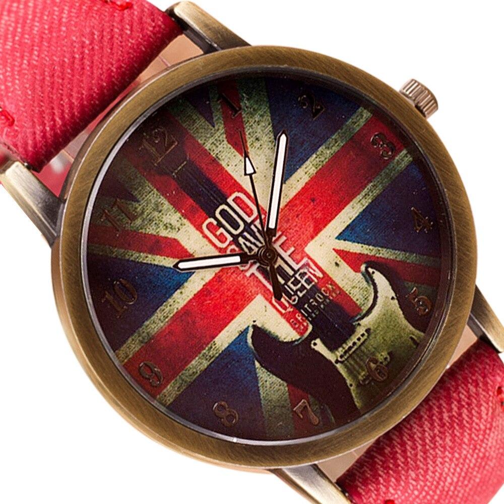 Ladies Leather Strap Sport Watch Women Sport Watches Red Clock Letter Women Fashion Wristwatch Female Quartz Watch 999