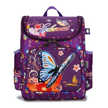 Children Bags for girls Kids butterfly Schoolbag Backpack EVA Folded Orthopedic Children School Bags For Boys and girls Mochila Kids & Baby Bags