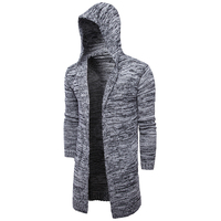 Fashion New Male Cardigan Long Sleeve Solid Warm Sweaters Casual Hooded Cardigans 2018 Men Autumn Knitting Sweater 2XL