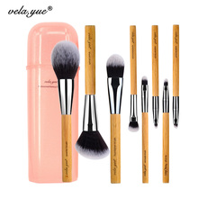 vela.yue Travel Makeup Brushes Set Synthetic Powder Foundation Blush Bronzer Eyeshadow Brow Liner Beauty Tools Kit 7/8pcs