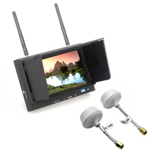 Free Shipping!Skyzone SKY-702 FPV 32CH 5.8G 7 Inch Diversity LCD Monitor Receiver & Sunshade+2 moushroom Antennas