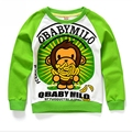 2016 Kids Boys Clothes Monkey Cartoon Sweatshirts Long Sleeve T Shirt Children's Clothing Cotton Printing Bottoming Shirt