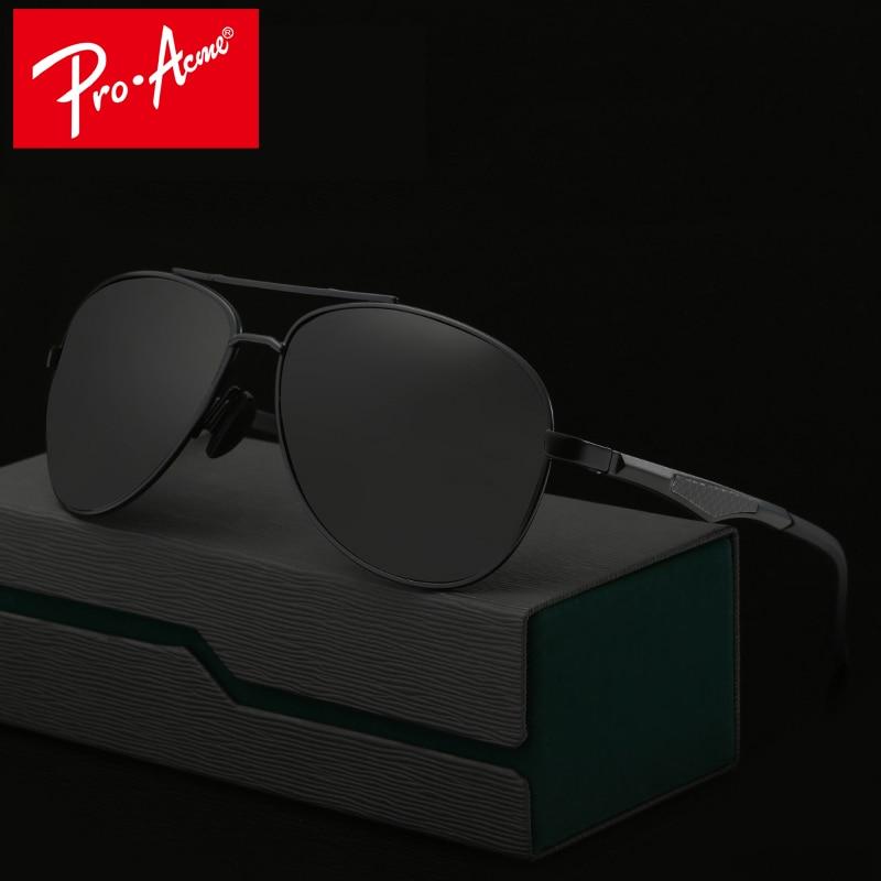 80d55f8facca6 Pro Acme de Aviação De Alumínio E Magnésio Polarizada óculos de Sol dos homens  óculos de Sol Condução Óculos Goggle Oculos CC0861