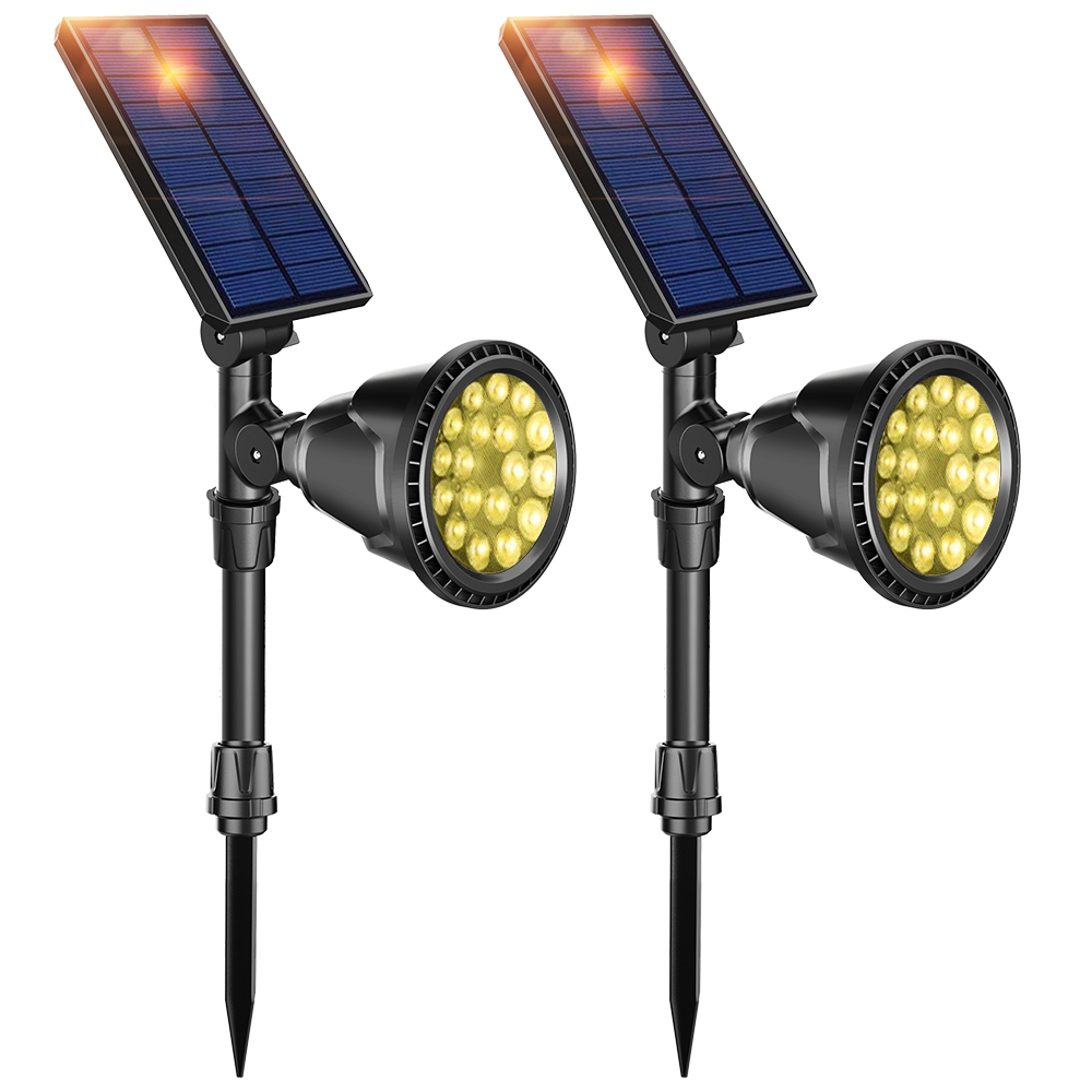 [DBF]1/2 Pack LED Solar Light Waterproof Outdoor 18 LEDs Solar Power Spotlight Garden Lawn Lamp Landscape Spot Lights Wall Light