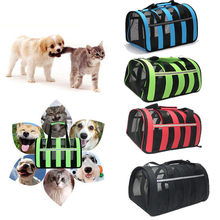 Large Capacity Outdoor Pet Cat Dog Travel Carrier Bag Breathable Space Capsule Handbag Portable Transparent For Cat Cage Puppy(China)