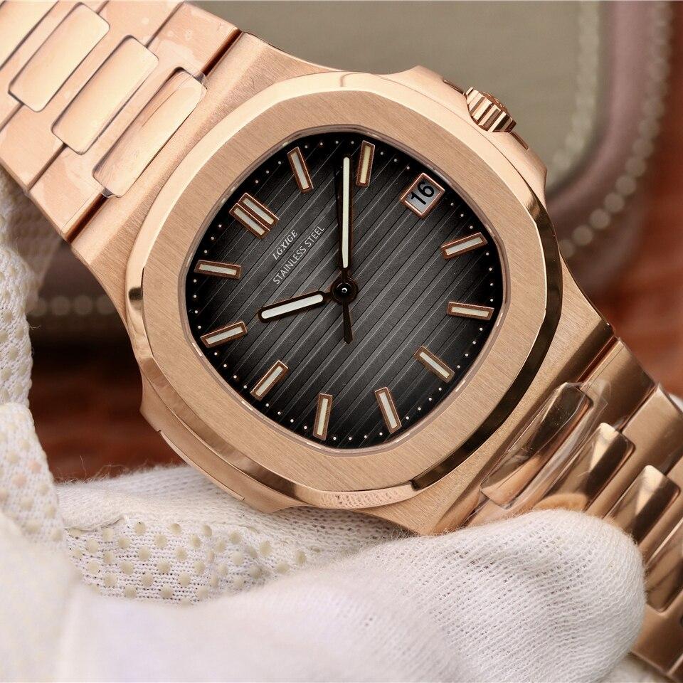 2019 mode hommes montre top marque de luxe quartz montre hommes décontracté en acier inoxydable étanche sport montre