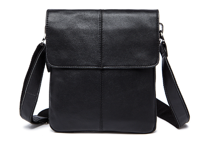 New Retro Mature Genuine Leather Male Messenger Shoulder Bag Casual Small Business Clamshell Bag Vintage Man Crossbody BagL120