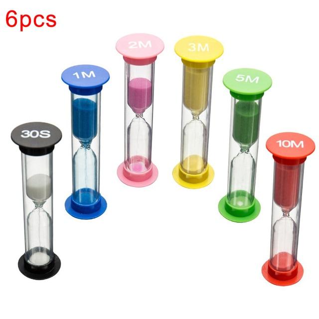6 sztuk Kid 6 kolory klasie gry klepsydra Timer zabawki montessori klepsydra klepsydra domu zabawki dekoracyjne dla dzieci dla dzieci