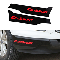 Jameo Auto 2Pcs/Set Car Front Bumper Corner Protection Strips Cover Sticker for Ford Ecosport 2012 2016 Accessories