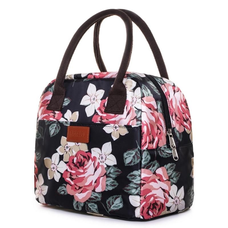 Women Floral Large Capacity Lunch font b Bag b font Waterproof Portable font b Cooler b