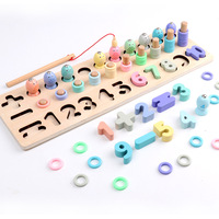 Magnetic Fishing Game Montessori Educational Baby Wooden Toys Brinquedos Para Bebe Oyuncak Learning Toys for Children Kids