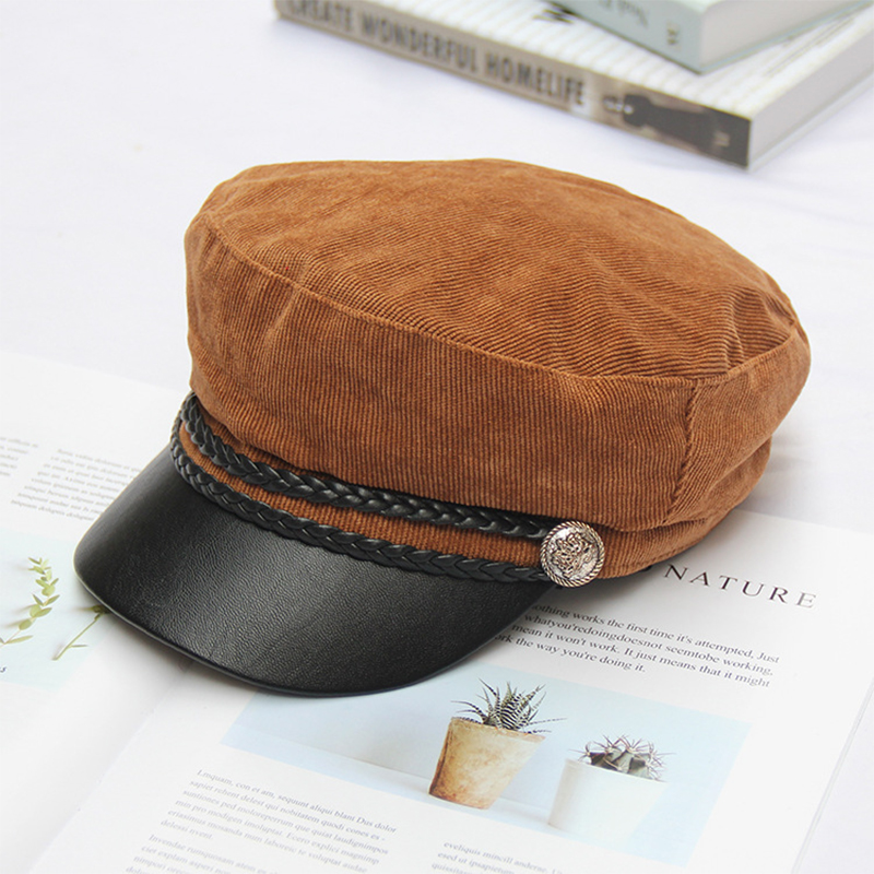 065a12db [AETRENDS] Corduroy Newsboy Hats for Women 2018 Newsboy Caps Gorra Mujer  Retro Captain Caps