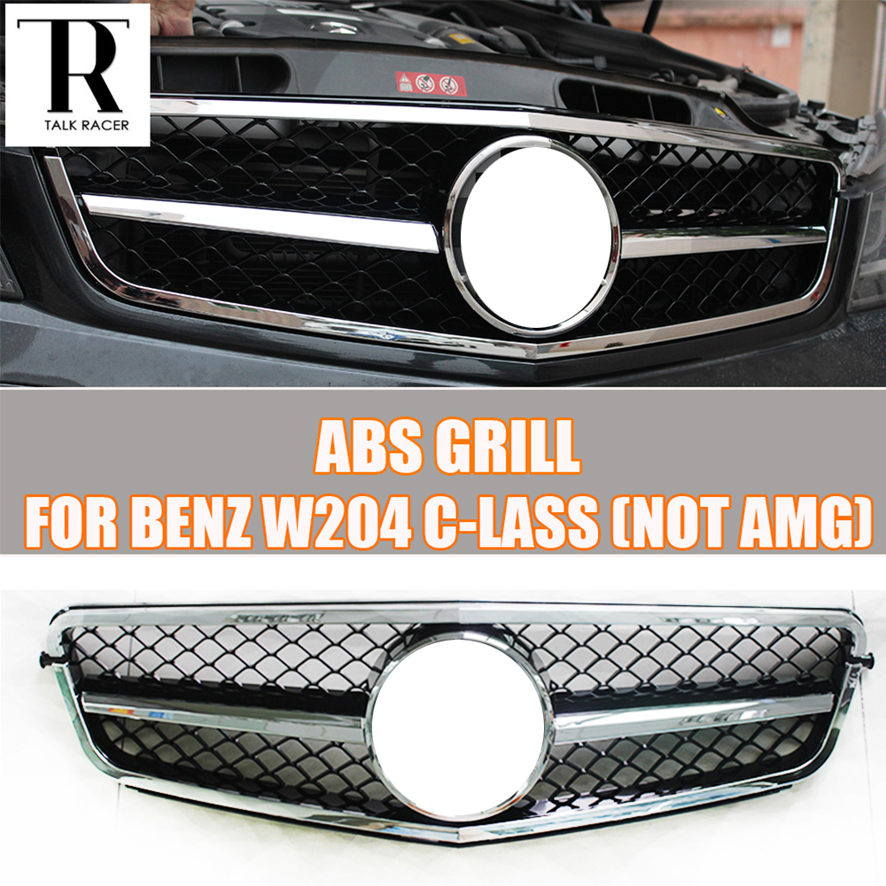 C-Class W204 Front Grill Grille for Mercedes Benz W204 C-CLASS C180 C200 C260 C300 ( not for AMG ) 07 - 14 car styling led drl for mercedes benz w204 c class c180 c200 c250 c260 c300 2008 2010 led bumper daytime running lights daylight