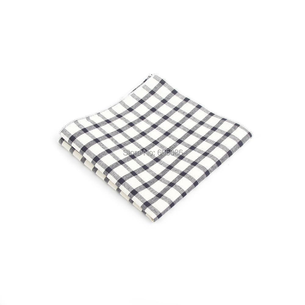 HOOYI 2019 New Arrival Plaid Men Hanky Pocket Square Handkerchief Wedding Pocket Handkerchiefs