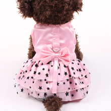 Fashion Autumn Winter Pet Dog Dress Clothes Sweet Princess Dress Small Medium Dogs Pet Teddy Puppy Wedding Dresses