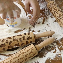 Wooden Rolling Pin for Laser Embossing