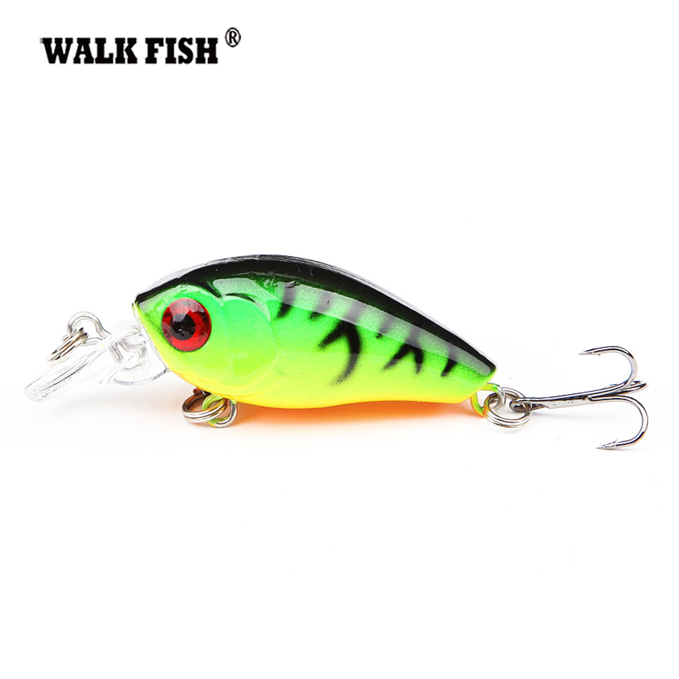 Walk Fish 1Pcs 4.5cm 4.2g Swim Fish Fishing Lure Artificial Hard Crank Bait topwater Wobbler Japan Mini Fishing Crankbait lure 1pcs swim fish top water wobbler fishing