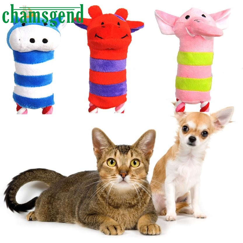 Pet Toys Dog Puppy Toy Plush Sound Squeaker Squeaky Animal Shape Chew Toy 0412 Levert Dropship