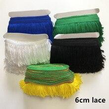 SASKIA 10Meter 6CM Long Lace Trim Ribbon Material Tassel Fringe Trimming Sewing Garment Diy Latin Dress Curtain Cloth Accessory