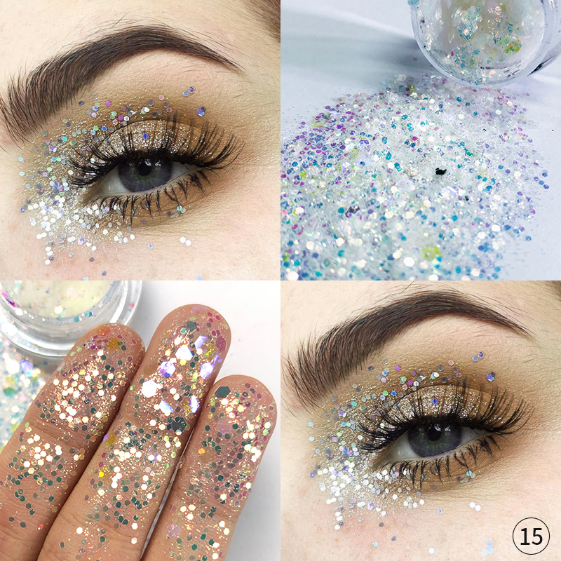 Just Pudaier 34 Color Mermaid Eye Shadow Gel Cream Diamond Sequins Shimmer Pigment Body Hairs Lips Pearlescent Eye Palette Tslm2 Relieving Heat And Sunstroke Beauty Essentials