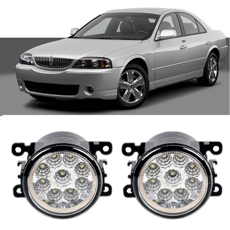 Car Styling For Lincoln Ls 2005 2006 9 Pieces Leds Fog Lights H11 H8 12v 55w Led Head Lamp