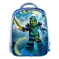 Nueva llegada azul lego ninja niños bolsas escuela mochila 3d de dibujos animados los niños de kindergarten mochila regalos de navidad para niños niñas