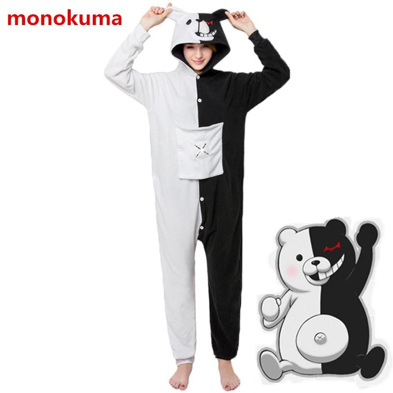 Anime New Danganronpa Monokuma Kawaii Cosplay Costumes Jumpsuits Cotton Pajamas Daily Casual Home Pajamas His-and-Hers Clothing
