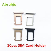 Absuhjx 10pcs SIM Card Tray for iPhone 7 8 6 6S Plus 7P 7G SIM Card Holder Slot Reader Adapter Replacement Parts