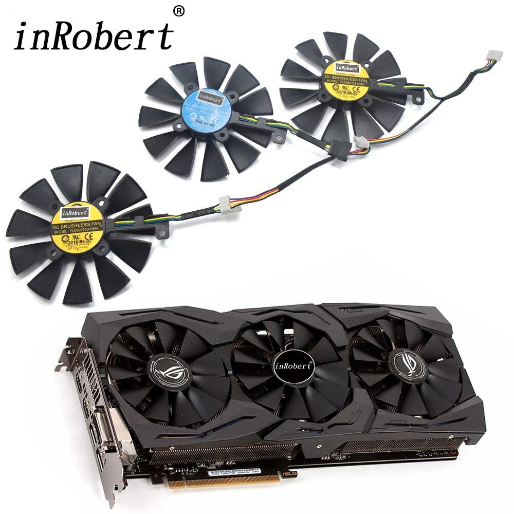 Nuevo ventilador de refrigeración de 87mm PLD09210S12M PLD09210S12HH para ASUS Strix GTX 1060 OC 1080 1070 GTX 1080Ti RX 480 ventilador de tarjeta gráfica