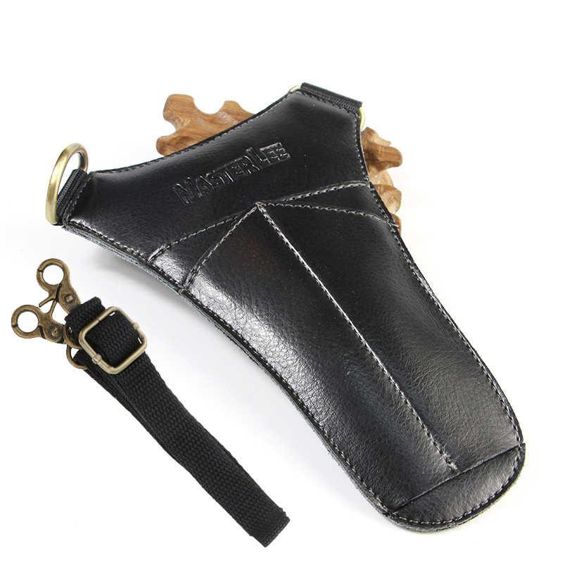 Кожаные ножницы для волос Сумка расческа кисти сумка пакет салон стилист Парикмахерские ножницы кобура чехол с ремешком Kappers Tas Koffer