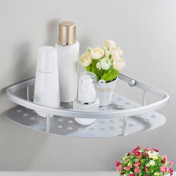 Unihome# 2015 New Space Aluminum Bathroom Shelf Bath Shampoo Tri-angle Basket Wall Mounted Free ShippingUnihome# 2015 New Space Aluminum Bathroom Shelf Bath Shampoo Tri-angle Basket Wall Mounted Free Shipping