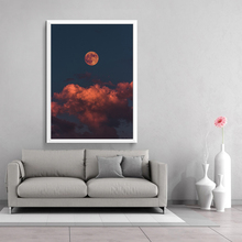 NOOG The Planet Moon Canvas Art Posters and Prints Beautiful Abstract Painting Wall Picture for Living Room Decor