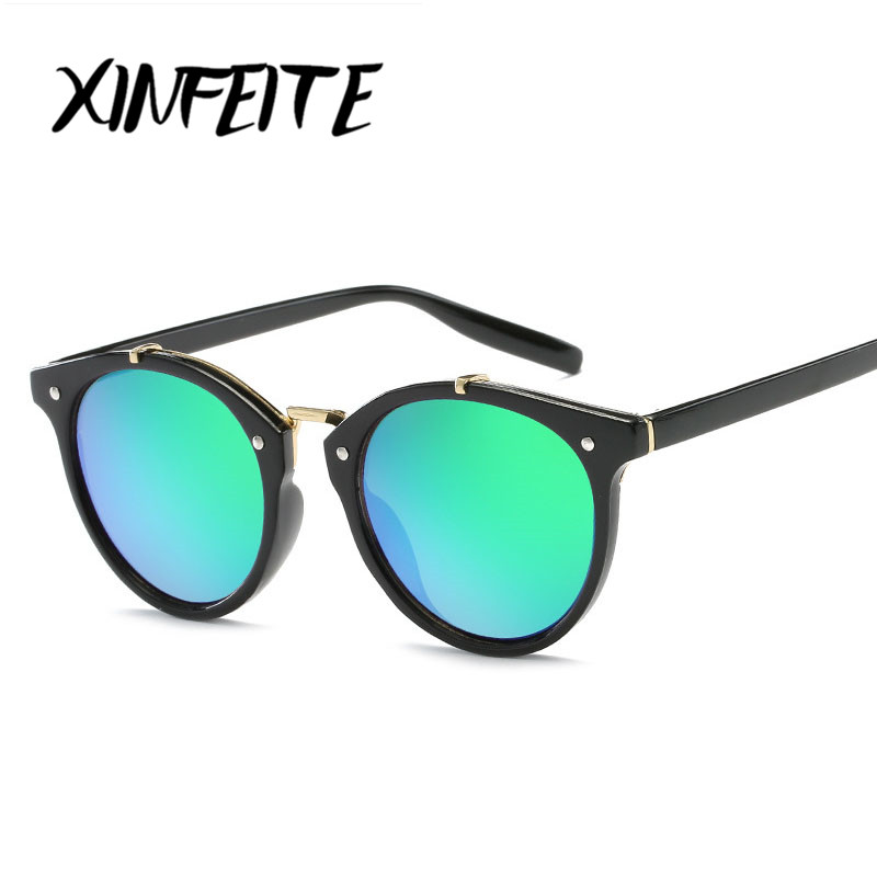 XINFEITE Brand 2018 Original Fashion Sun Glasses For Woman Men Steampunk Round Sunglasses Female Vintage Eyeglasses Oculos