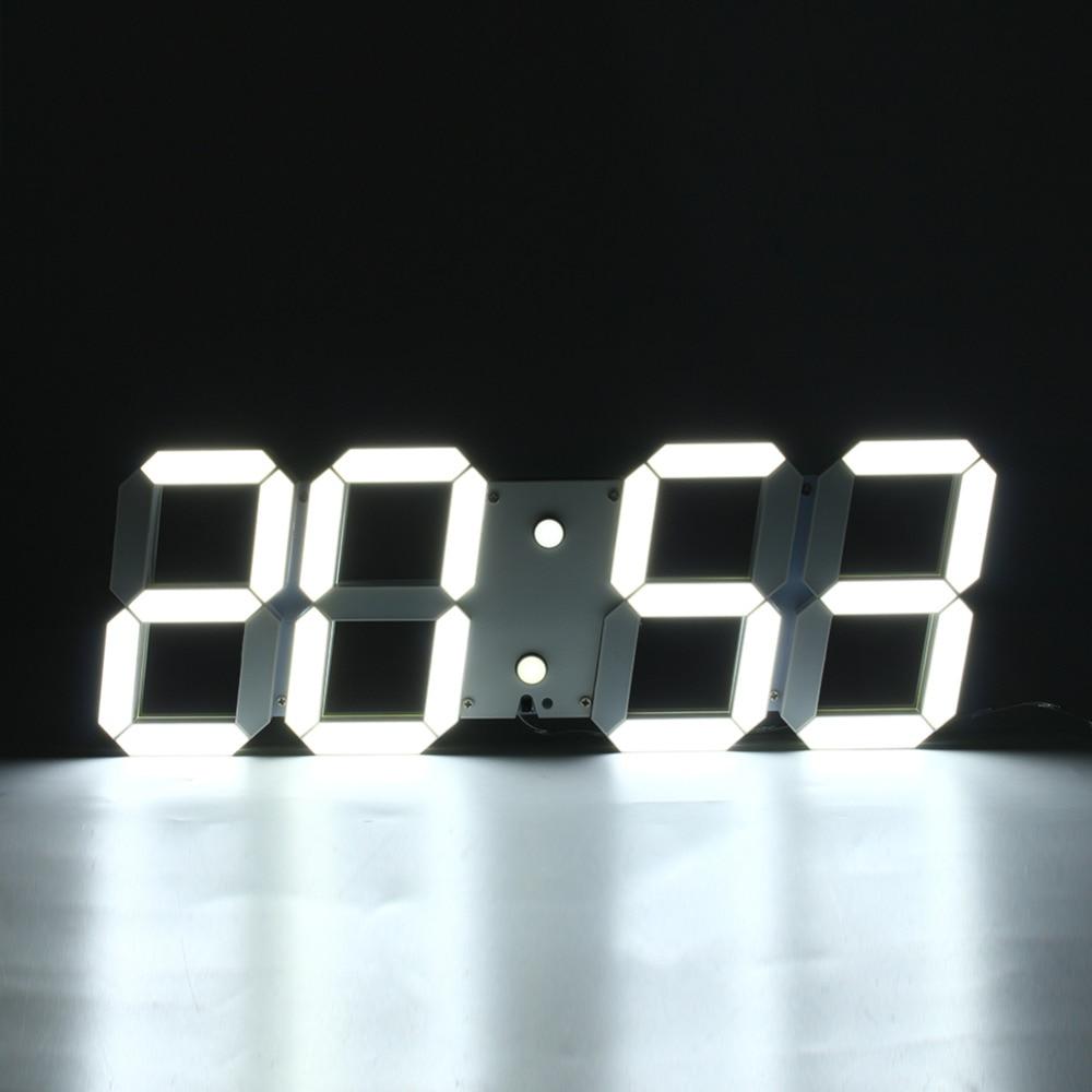 1pcmodern digital wall clock remote control 3d wall clock - Horloge murale a led ...