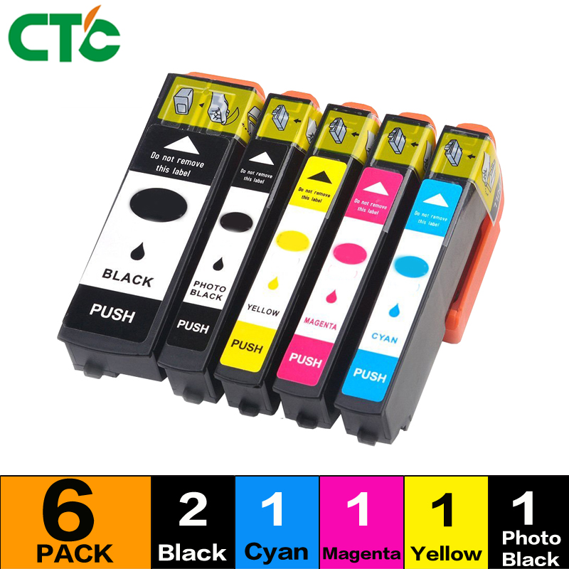 6x T2621 26 XL Black Colour Inks Compatible for Expression XP 700 710 720 610 520 610 510 605 800 810 820 Printer