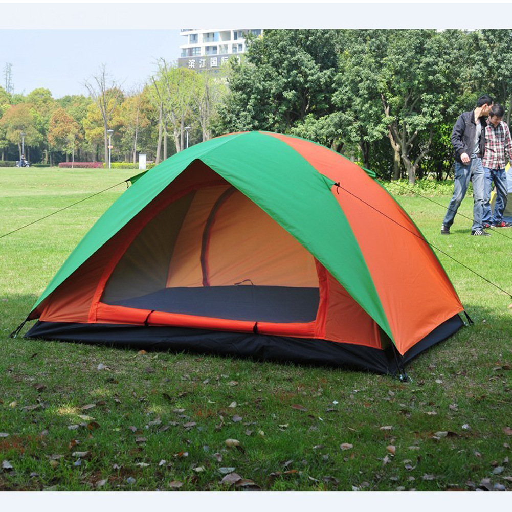 Camping Tent for Hiking Trekking Backpacking Fishing Double Layers Waterproof Polyester Tents Beach Awning Tent for Family octagonal outdoor camping tent large space family tent 5 8 persons waterproof awning shelter beach party tent double door tents
