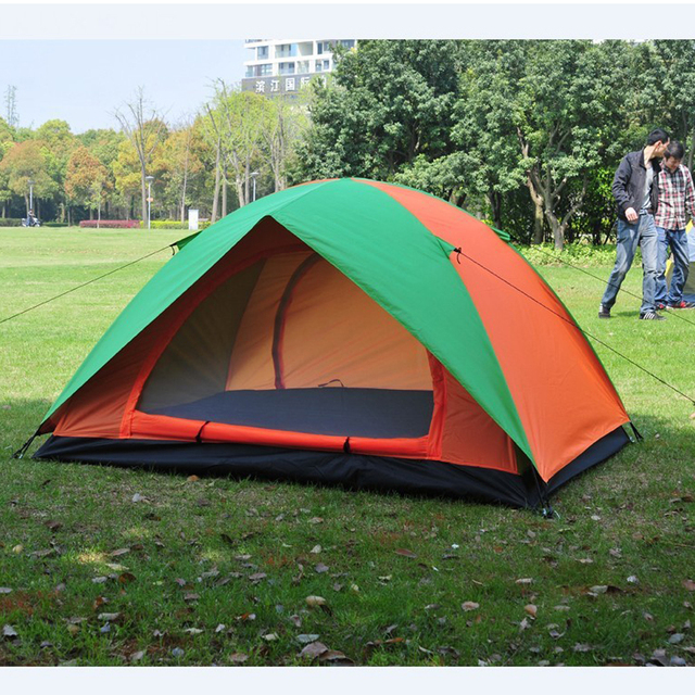 C&ing Tent for Hiking Trekking Backpacking Fishing Double Layers Waterproof Polyester Tents Beach Awning Tent for & Camping Tent for Hiking Trekking Backpacking Fishing Double Layers ...