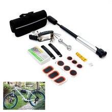 цена на Multi-functional Bike Tire Repair Tools Pump Kit Bicycle RepairWrench Screwdriver Kit Tool Set Emergency Tire Fix Kit