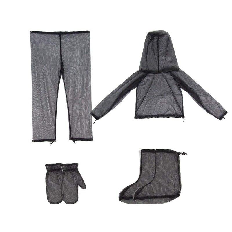 Наружная одежда от насекомых, Противомоскитный костюм, куртка, митенки, штаны, носки, сетчатая пряжа, сетчатая ткань