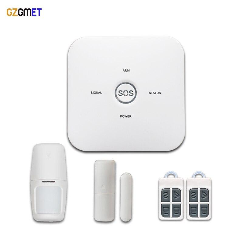 GZGMET GSM Alarm Host Home Burglar Security Wireless Sensor System Remote Control Andriod IOS APP SOS Emergency
