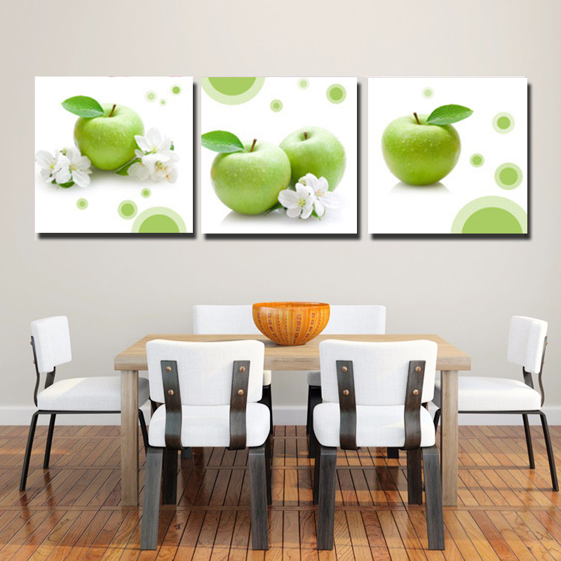 Large Wall Pictures For Living Room: No Frame Fruits Canvas Painting Large Wall Pictures For