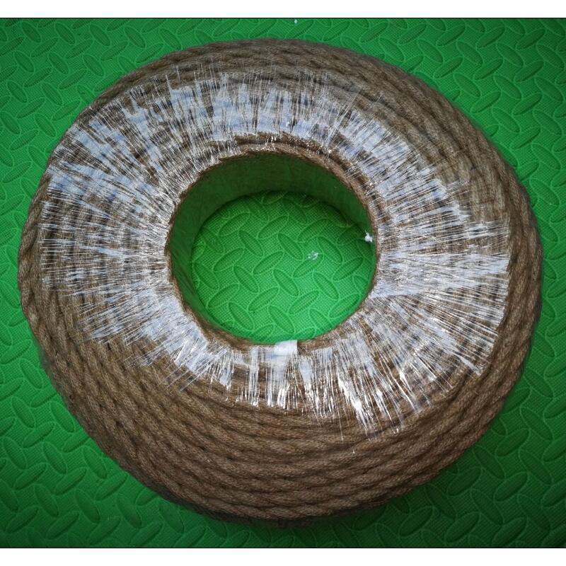 100 m 2 core rétro tressé électrique fil tissu câble bricolage pendentif lampe fil vintage chanvre corde torsadé câble métallique - 2